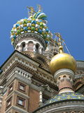 Ortodox church in St.Petersburg. (detail view Stock Photography