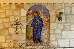 Ortodox church Sveta Petka mosaic stock images