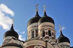 Ortodox church in Tallin Stock Photo