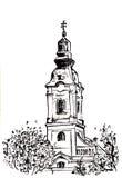 Ortodox church tower Stock Photography