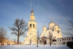 Ortodox church winter landscape russia Stock Photo