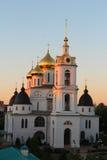Ortodox domkyrka i solnedgången Royaltyfria Bilder