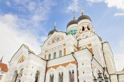 Ortodox domkyrka i Tallin, Estland. Arkivfoton