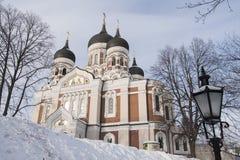 Ortodox domkyrka Tallinn royaltyfria bilder