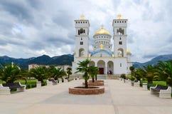 Ortodox domkyrkakyrka av St Jovan Vladimir, stång, Montenegro Fotografering för Bildbyråer