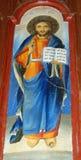Ortodox freskomålning av Jesus royaltyfri fotografi