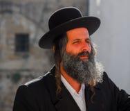 Ortodox judisk man, Israel royaltyfria foton
