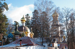 Ortodox Kirche des Transfiguration, Peredelkino, Russland Stockbilder