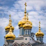 Ortodox-Kirche in Lettland Stockbilder