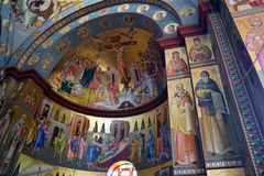 Ortodox-Kirchen-Innenraum Stockbilder