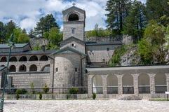 Ortodox kloster av Kristi f?delsen av den v?lsignade jungfruliga Maryen i Cetinje, Montenegro royaltyfri bild