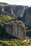 Ortodox kloster av Rousanou i Meteora, Thessaly, Grekland arkivfoto