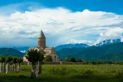 Ortodox kloster i Alaverdi, Georgia royaltyfria foton