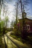 Ortodox kloster Tikhonova Pustyn i den Kaluga regionen (Ryssland) Arkivbild