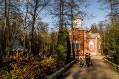 Ortodox kloster Tikhonova Pustyn i den Kaluga regionen (Ryssland) Arkivfoton