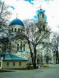Ortodox kloster Tikhonova Pustyn i den Kaluga regionen (Ryssland) Fotografering för Bildbyråer