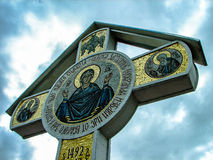 Ortodox kloster Tikhonova Pustyn i den Kaluga regionen (Ryssland) Royaltyfria Foton