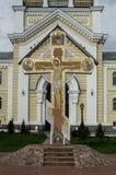 Ortodox kloster Tikhonova Pustyn i den Kaluga regionen (Ryssland) Royaltyfria Bilder