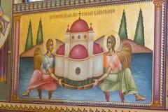 Ortodox kościelny maluje Izrael, Marzec - 23, 2018 Obraz Royalty Free