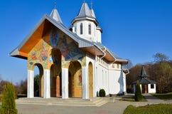 Ortodox kristen kloster i Rumänien royaltyfria bilder