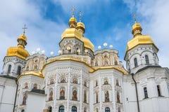 Ortodox kristen kyrka i Kiev Pechersk Lavra Monastery, Kyiv royaltyfri foto