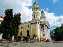 Ortodox kristen kyrka i Uzhorod, Ukraina royaltyfria bilder