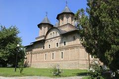 Ortodox kyrka av den monumentala komplexa Curteaen Domneasca, Targ royaltyfri bild