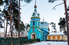 Ortodox kyrka av den storslagna hertigen för St., Jurmala arkivfoto