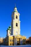 Ortodox kyrka av förklaringen i vinterdagen Arkivfoto