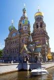 Ortodox kyrka av frälsaren på Spilled blod, St Petersburg Royaltyfria Foton