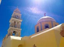 Ortodox kyrka av Santorini Royaltyfria Foton