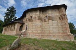 Ortodox kyrka av Sf Nicolae, Balteni, Ilfov, Rumänien Fotografering för Bildbyråer