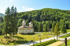 Ortodox kyrka av Slanic Moldavien Arkivbilder