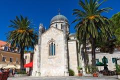 Ortodox kyrka av St Michael Archangen, Herceg Novi, Montene Royaltyfria Bilder
