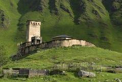 Ortodox kyrka av Svaneti i Georgia Royaltyfri Bild