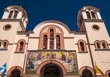 Ortodox kyrka för helig Treenighet i Kreta, Grekland Arkivbild