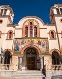 Ortodox kyrka för helig Treenighet i Kreta, Grekland Arkivfoto