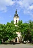 Ortodox kyrka för Kikinda stad fotografering för bildbyråer
