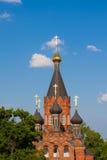 Ortodox kyrka för röd sten Royaltyfri Fotografi