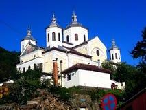 Ortodox kyrka från golvspiken Royaltyfri Foto