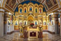 Ortodox kyrka från insidan Arkivfoto