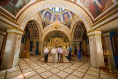 Ortodox kyrka från insidan Royaltyfria Bilder