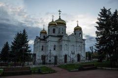 Ortodox kyrka i aftonen Royaltyfri Fotografi