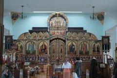 Ortodox kyrka i Almaty, Kasakhstan Royaltyfri Bild