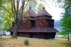 Ortodox kyrka i Bieszczady Arkivfoto