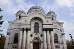 Ortodox kyrka i Kaunas Arkivfoto