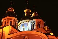 Ortodox kyrka i Kiev, Ukraina Arkivfoton