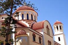 Ortodox kyrka i Kreta arkivbild