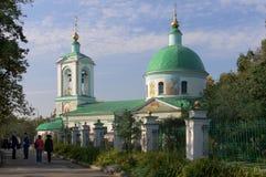 Ortodox kyrka i Moskva, Ryssland Royaltyfri Fotografi