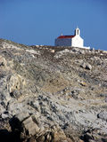 Ortodox kyrka i Mykonos Royaltyfria Bilder